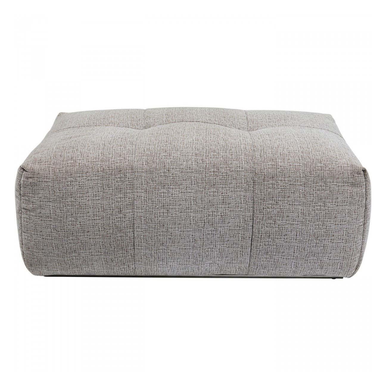 KARE DESIGN rektangulær Studio puf - polyester og stål (114x75)