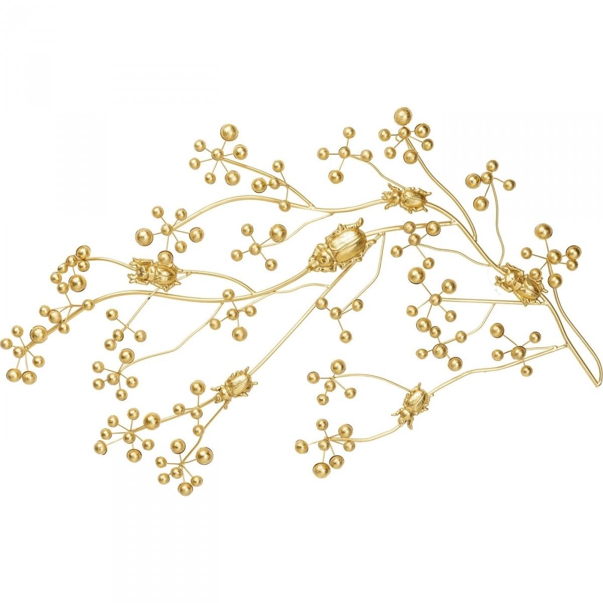 KARE DESIGN Beetle On Tree Gold knagerække - guld stål