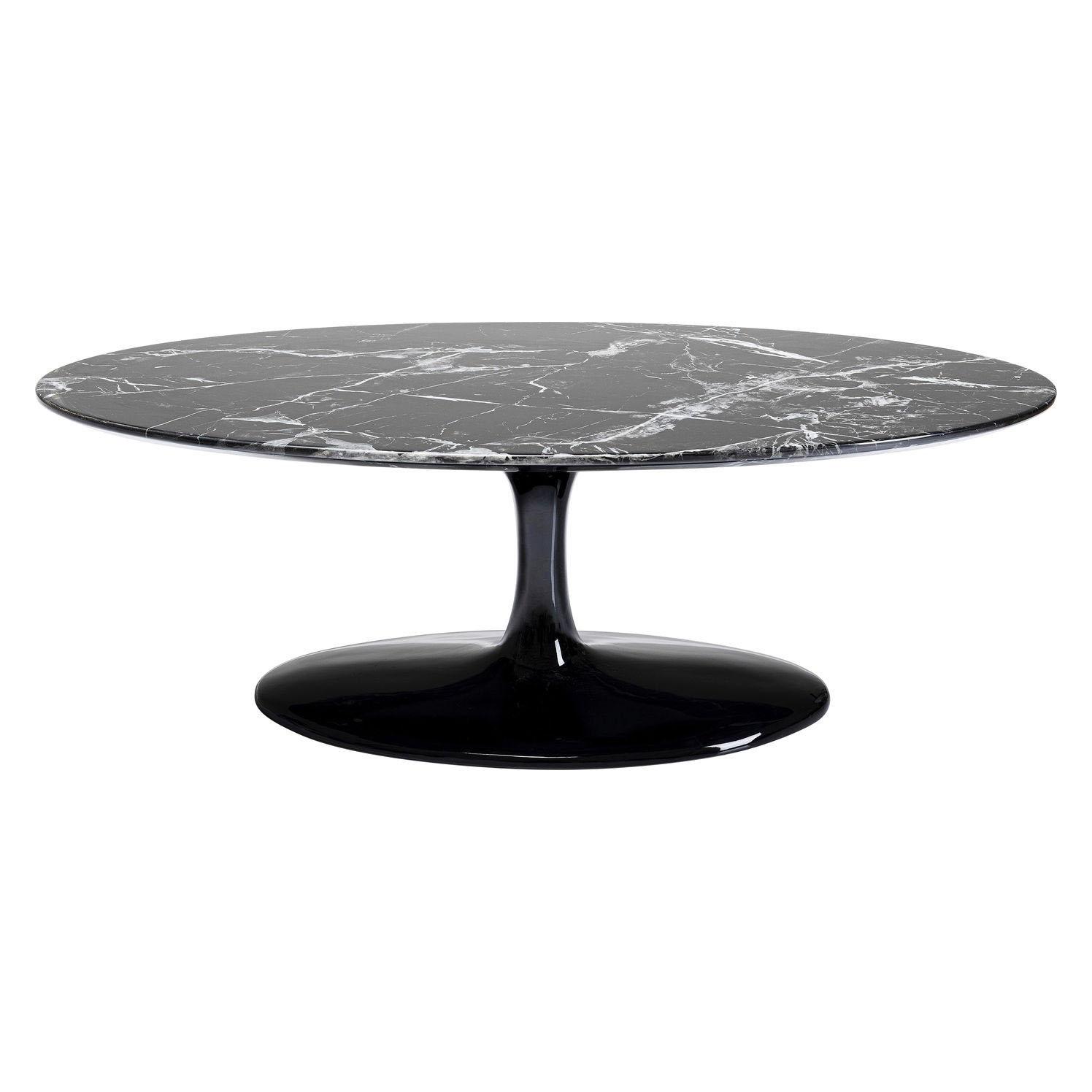 KARE DESIGN Solo Marble Black sofabord - oval granit, fiberglas og polyresin 120x60 cm.