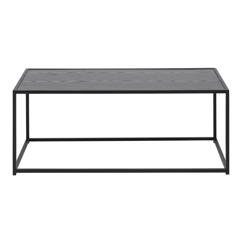 Køb ACT NORDIC Seaford rektangulær sofabord – sort melamin og metal (100×50)