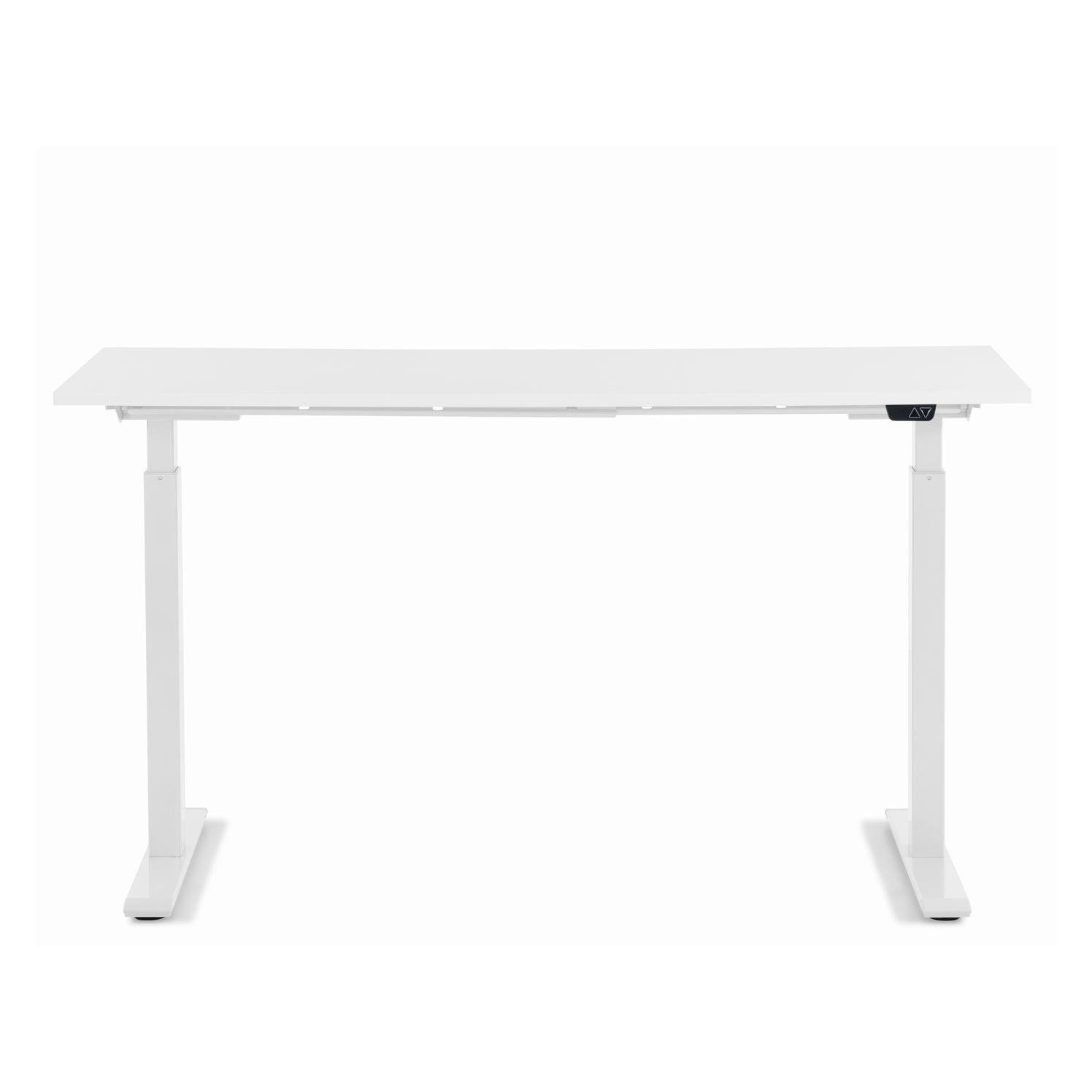 KARE DESIGN rektangulær Smart White White skrivebord - hvid melamin og hvid stål (140x60)
