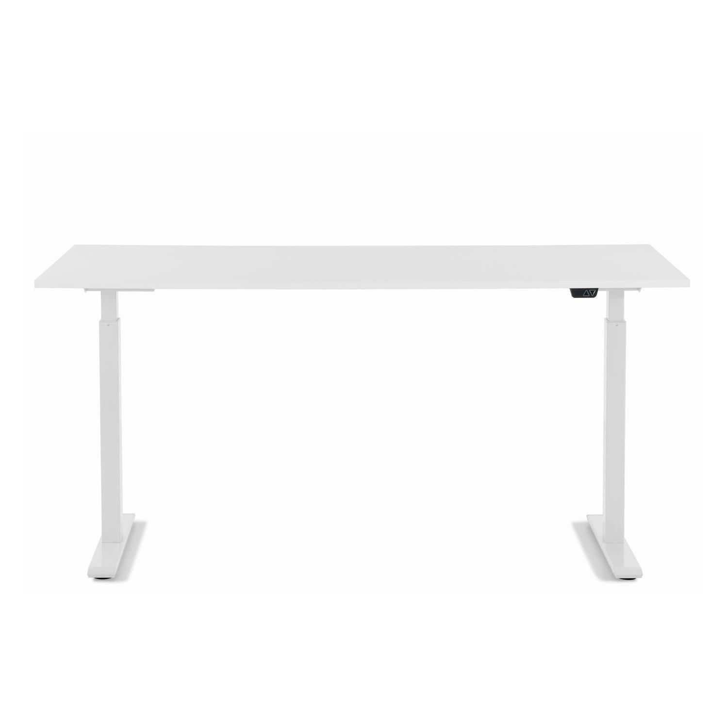 KARE DESIGN rektangulær White White skrivebord - hvid melamin og hvid stål (160x80)