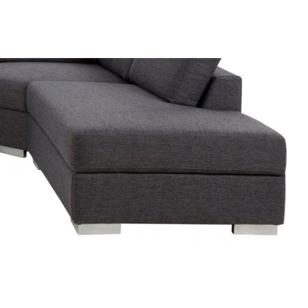 Kæmpe stor hjørnesofa - Grå Adelanto sofa med chaiselong
