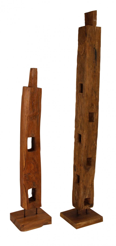 Preform wood træpæl på fod - træ, unika (160-200 cm)