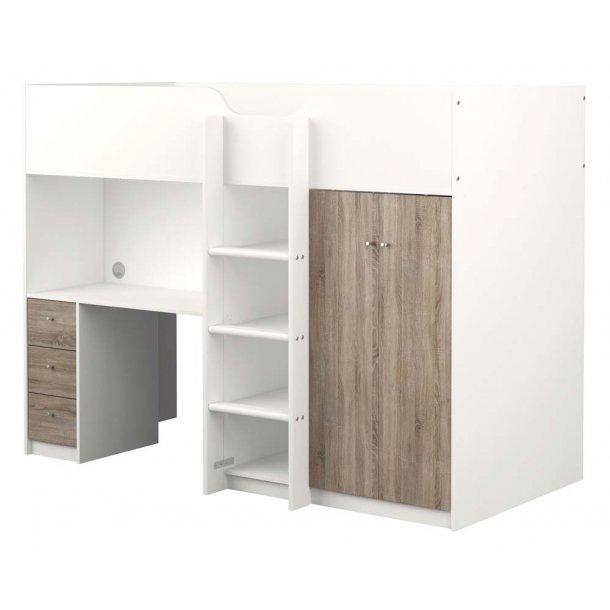 lyon halvhj seng med skabe skuffer og skrivebord. Black Bedroom Furniture Sets. Home Design Ideas