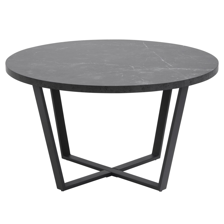 Køb ACT NORDIC Amble rund sofabord – sort melamin og metal (Ø77)