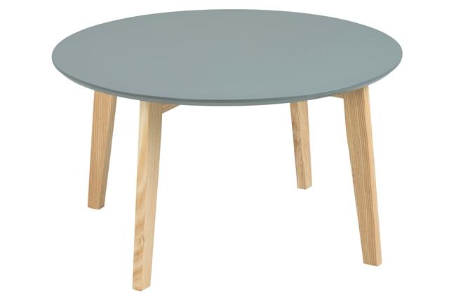 Molina sofabord - mørkegrå/eg træ, rundt (Ø:80)
