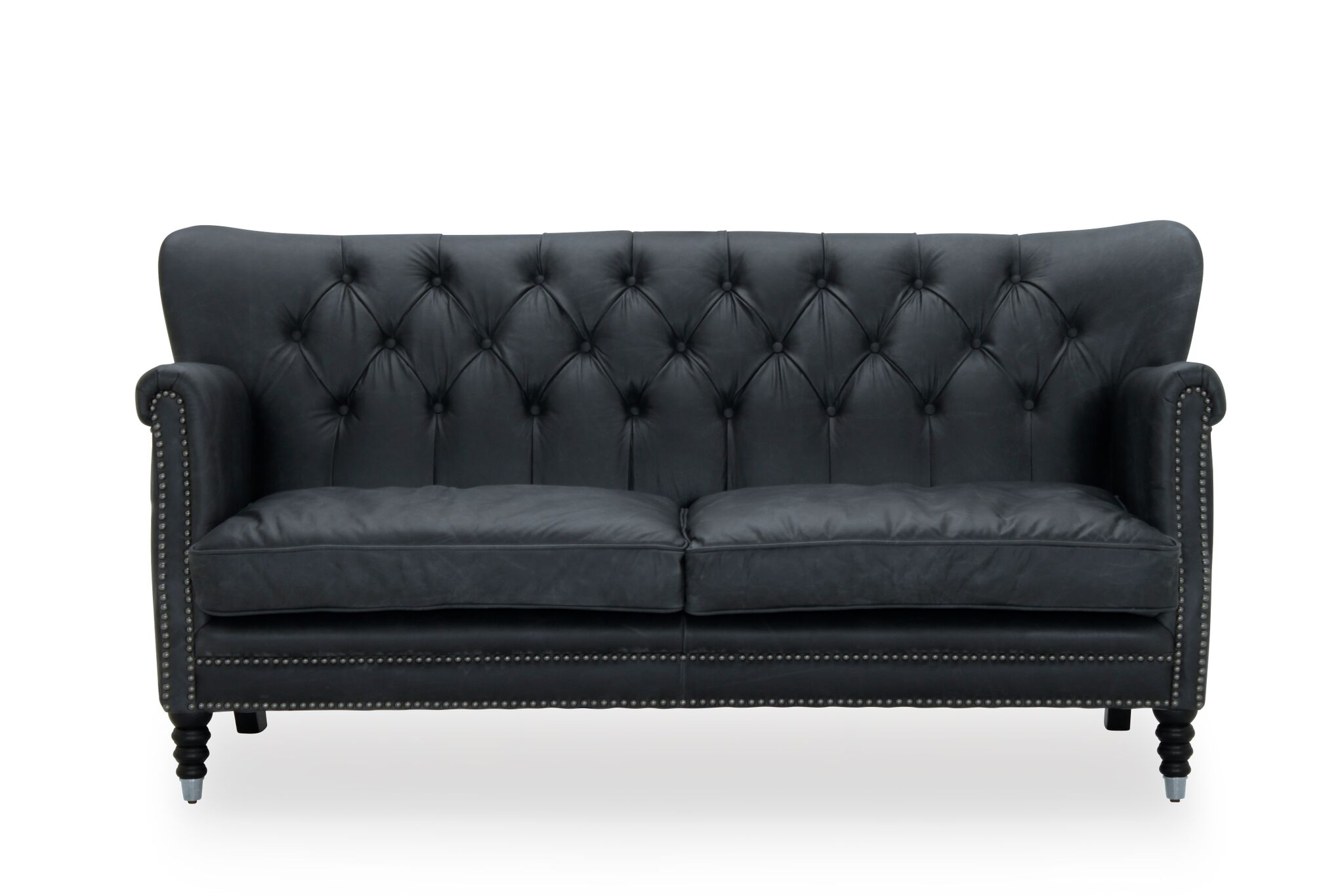 antik lder sofa i sort kb en glasgow sofa her. Black Bedroom Furniture Sets. Home Design Ideas