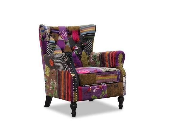 """Image of   HAGA London lænestol - """"patchwork"""", stof"""