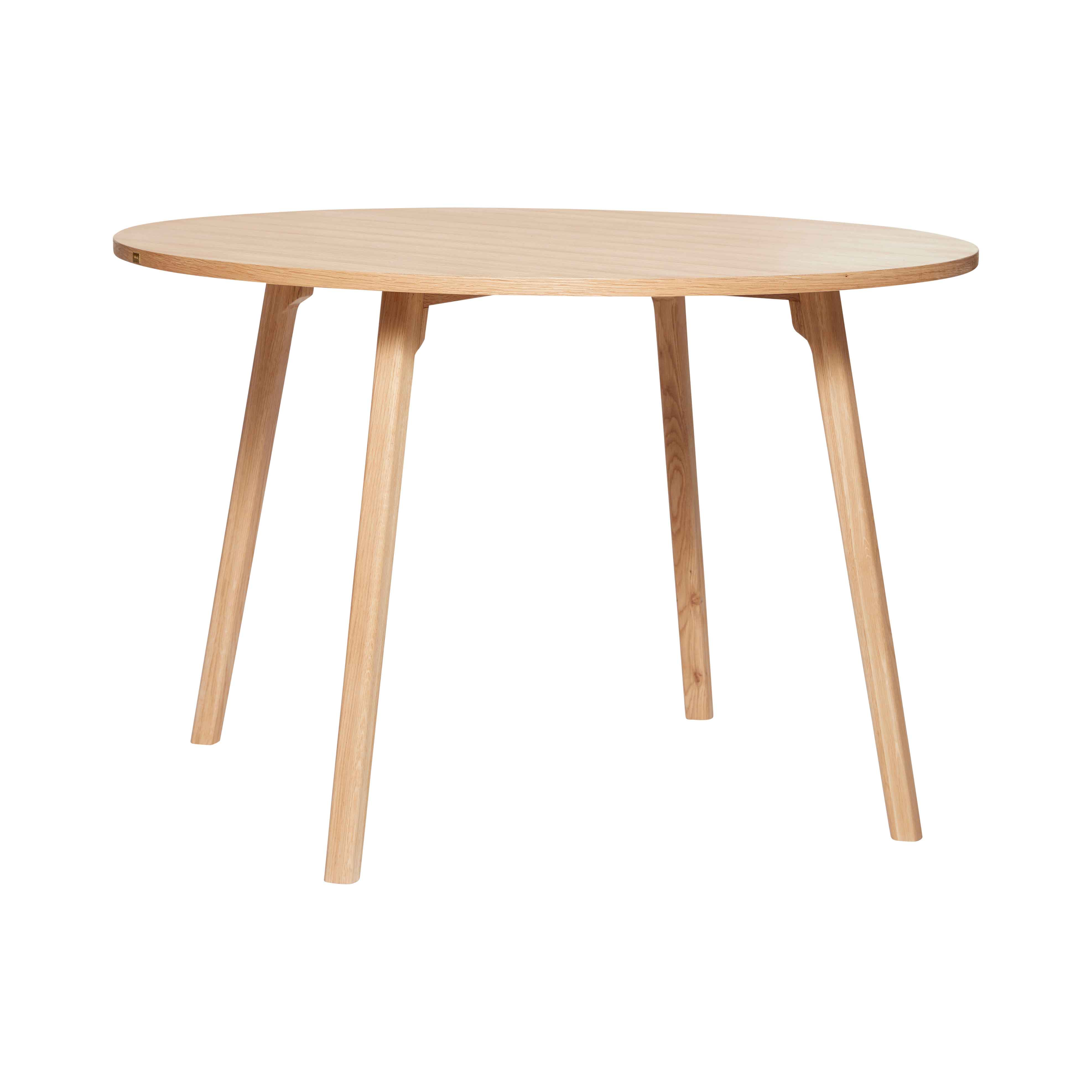 hübsch H?bsch rund spisebord - egetræ, finer (ø:115cm) fra boboonline.dk