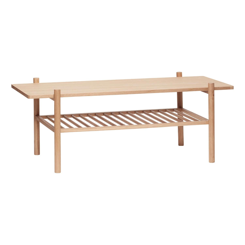 Hübsch Hübsch Sofabord Med Hylde - Egetræsfinér (120X57) Dagligstue