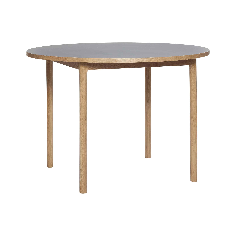 HÜBSCH spisebord - grå/natur egetræsfinér, rund (Ø110)