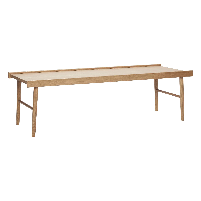 HÜBSCH sofabord - egetræsfinér m. kant