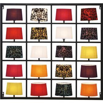 KARE DESIGN Parecchi væglampe – stål og lamper i forskellige farver