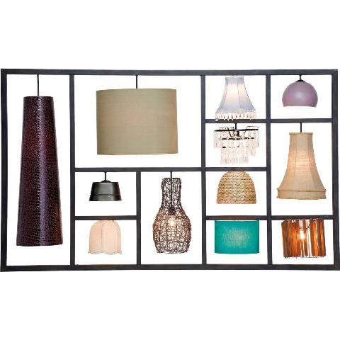 KARE DESIGN Parecchi Art House væglampe – stål og lamper i forskellige farver