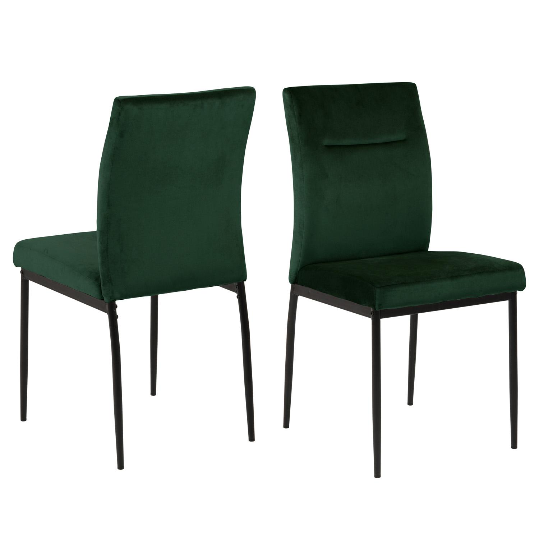 ACT NORDIC Demi spisebordsstol - mørkegrøn polyester og sort metal