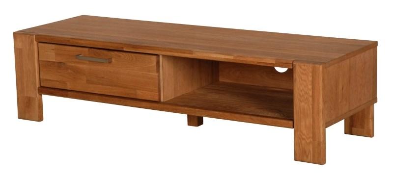 Riva TV-bord - eg, m. 1 skuffe og 1 åbent rum