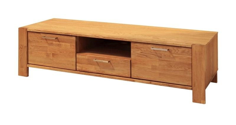 Riva TV-bord - eg, m. 2 låger, 1 skuffe og 1 åbent rum