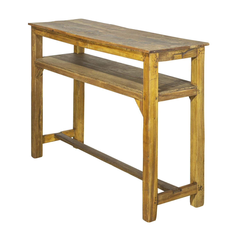 SJÄLSÖ NORDIC rektangulær konsolbord, m. hylde - træ (109x32)