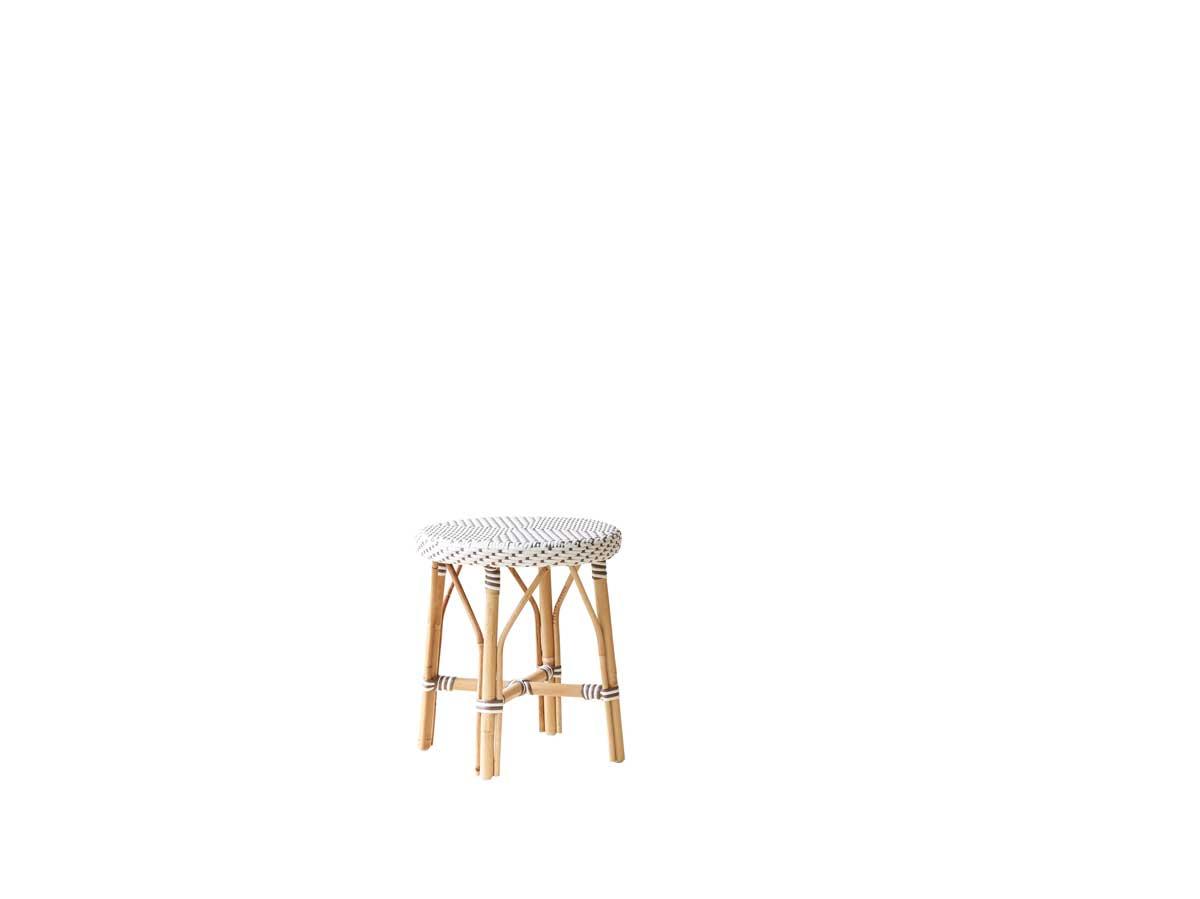 SIKA DESIGN Simone skammel - hvidt træ (Ø 40)