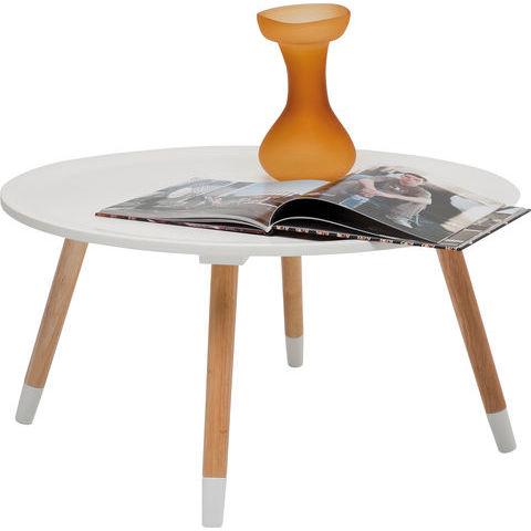 kare design Kare design blossom sofabord - hvid bordplade, natur ben, rundt (ø:70) fra boboonline.dk