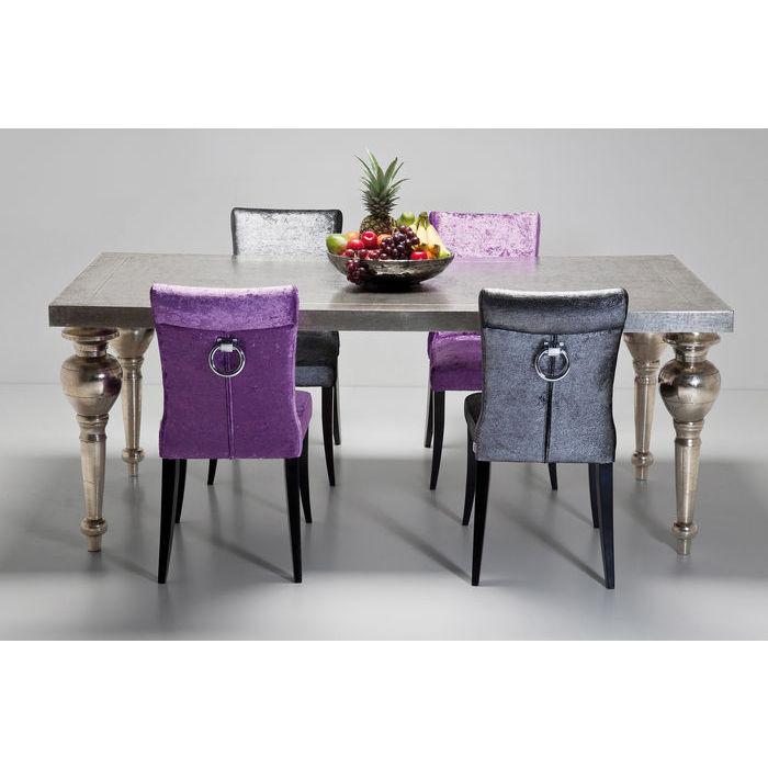 KARE DESIGN Chalet Louis spisebord - træ belagt med metalplade, m. glasplade