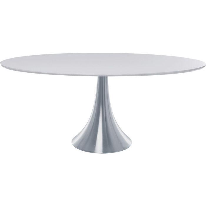 Kare design possibilita spisebord - grå mdf m. aluminium ben, ovalt