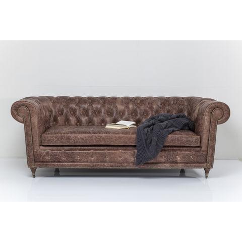 KARE DESIGN Oxford Deluxe 3 pers. sofa - brunt naturligt læder