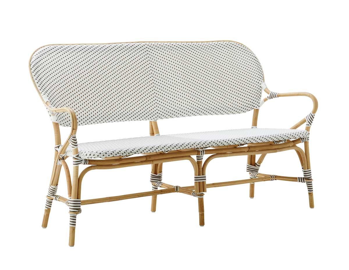 SIKA DESIGN Isabell sofa - hvid stof og træ
