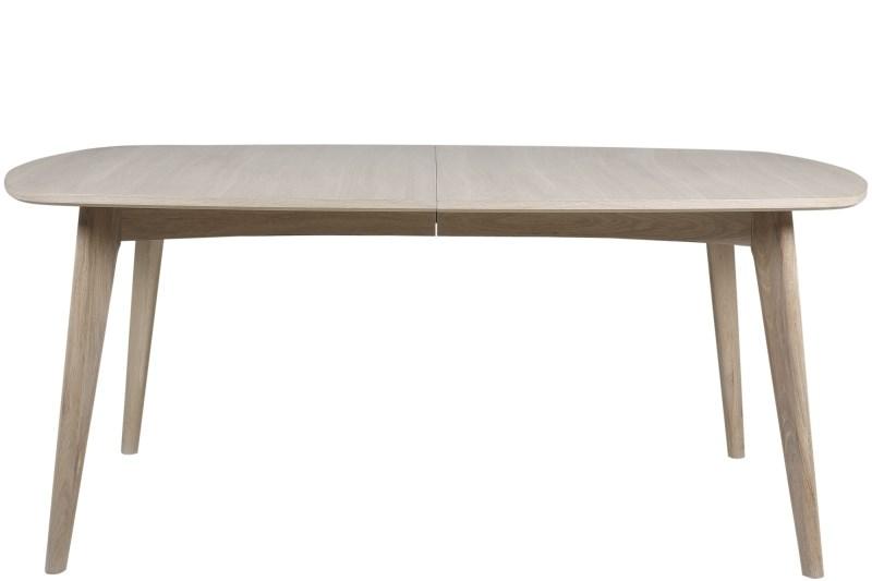 Marte spisebord - hvidpigmenteret eg, m. udtræk