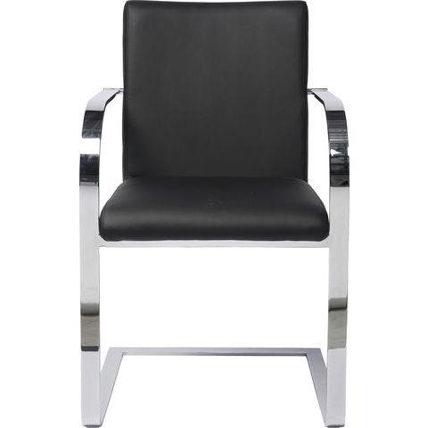 Billede af Cantilever Cantodo Black stol med armlæn