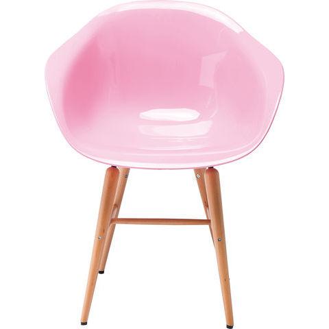 Billede af Forum Wood Pink stol med armlæn