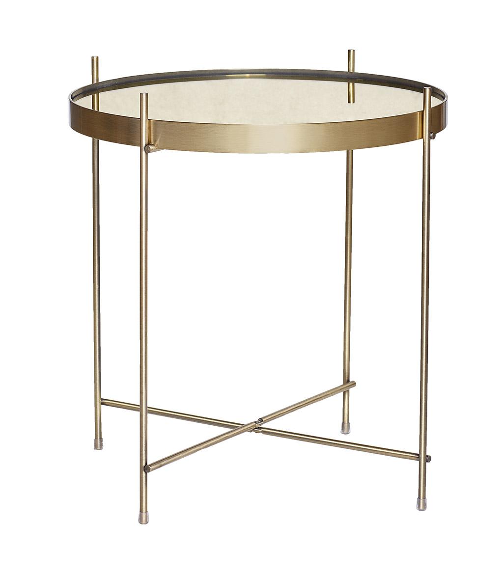 Billede af Hübsch Rundt bord i metal/spejl, guld