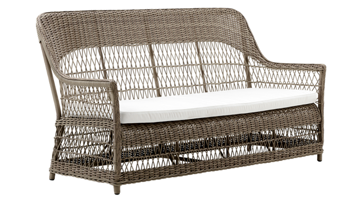 Image of   SIKA DESIGN Dawn 3-pers. havesofa inkl. hynde - Antik