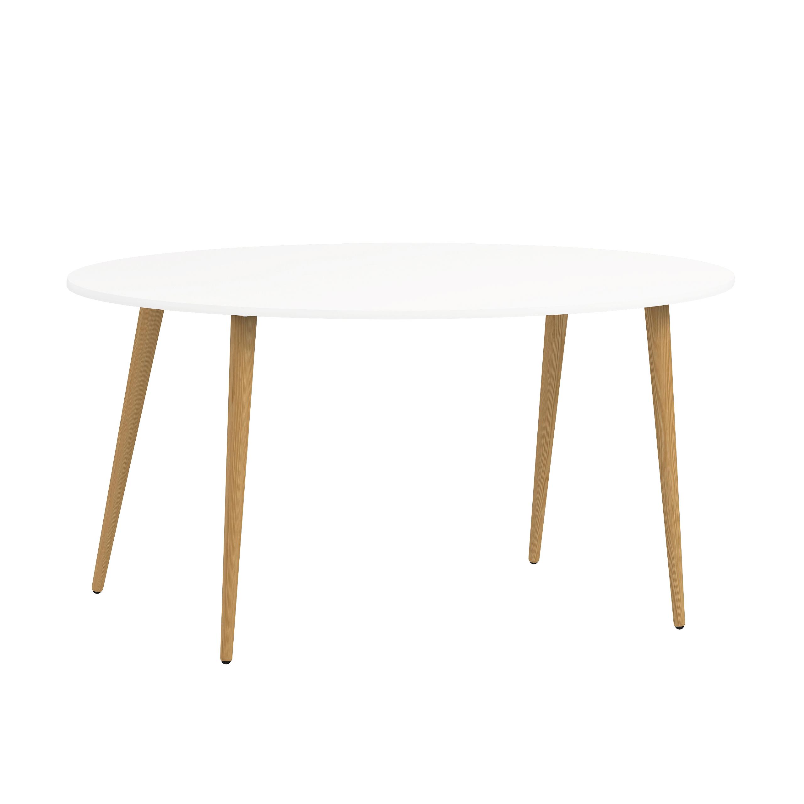 Delta spisebord oval hvid
