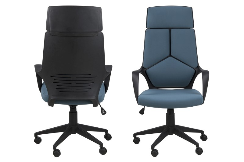 Billede af Dubnium skrivebordsstol m. høj ryg, mørkegrå
