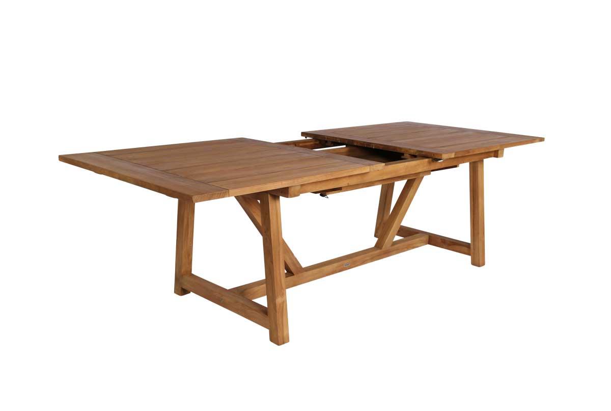 SIKA DESIGN George spisebord - teaktræ, 200x100, m. udtræk