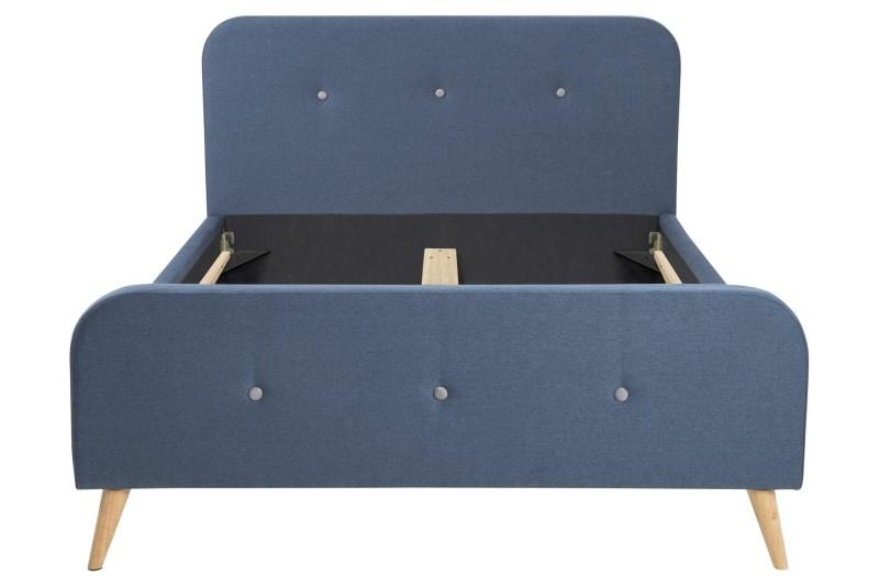 Image of   Agnes sengeramme 180x200, mørkeblå - til boxmadras