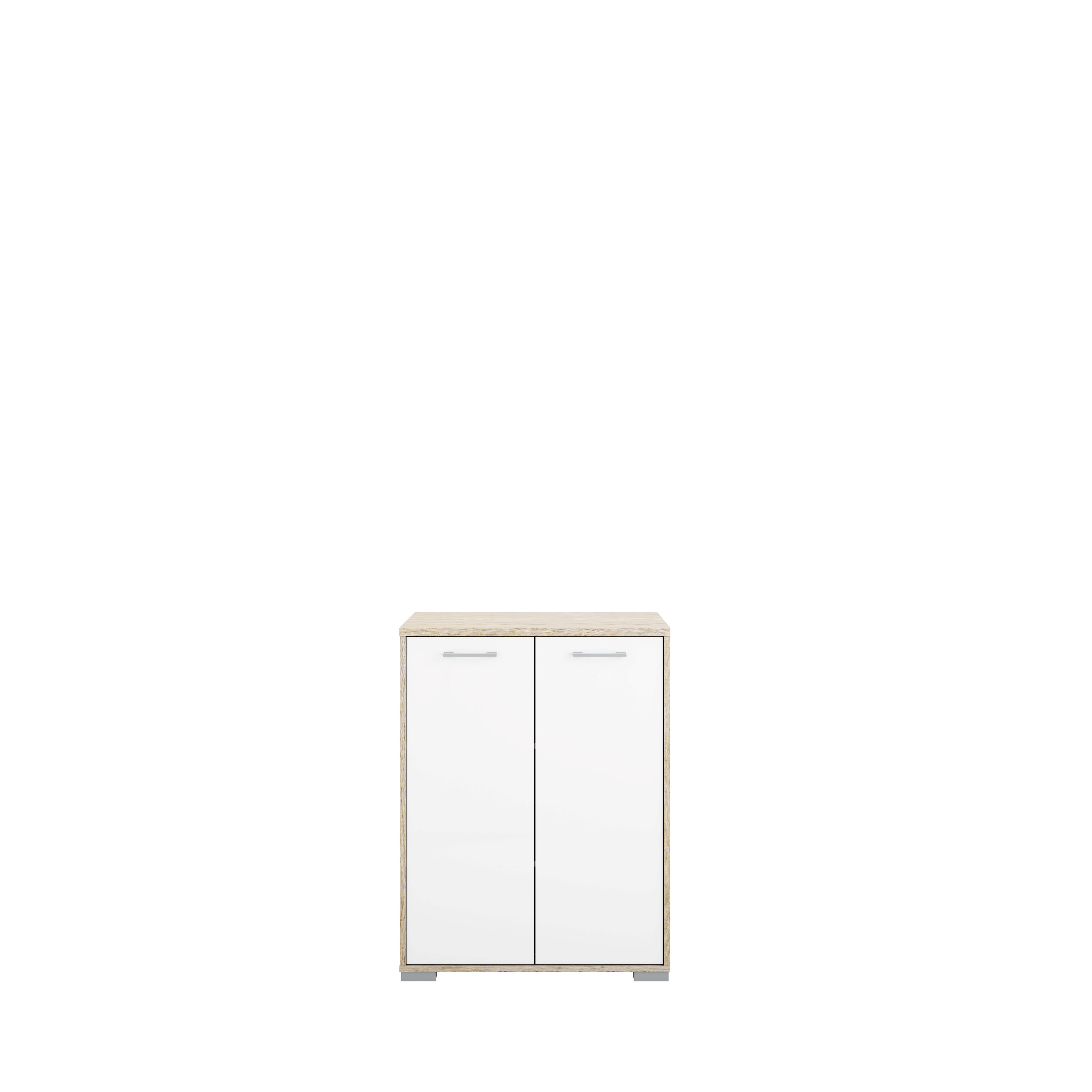 Sknk med 2 lger i eg struktur og hvid hjglans - Homeline dekoration ...