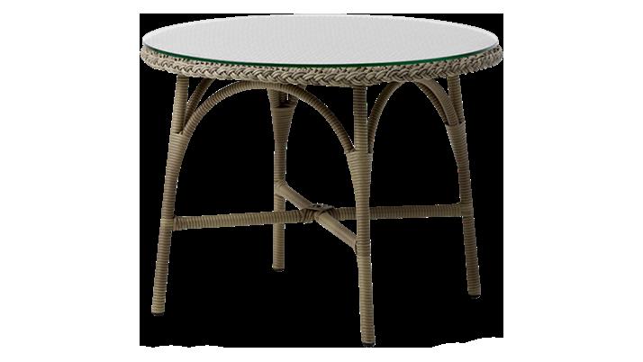 Sika Design Sika Design Victoria Cafébord - Glasplade Og Natur Fibre (Ø 80) Havemøbler