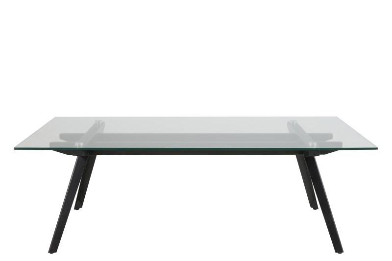 Monti sofabord - glasplade m. sorte metalben