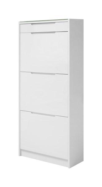 Billede af CHESS skoskab med 3 rum, Hvid højglans