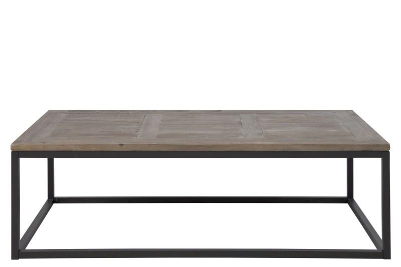 Rockwood sofabord - massiv grantræ, matsorte metalben