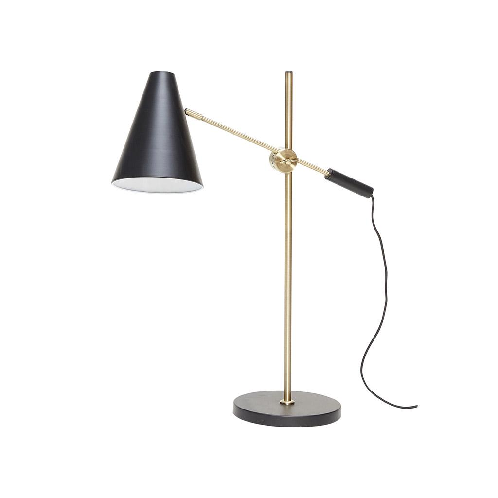 Image of   Hübsch Bordlampe i metal, sort/messing