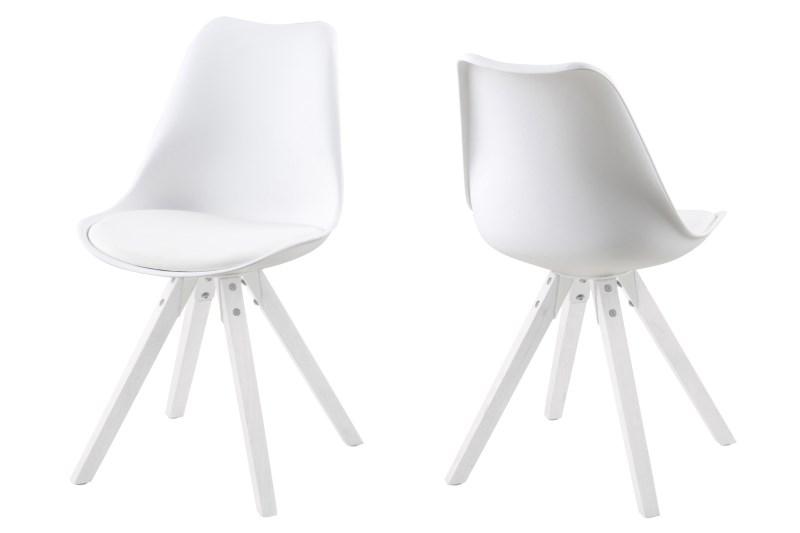 Scramble spisebordsstol - hvid