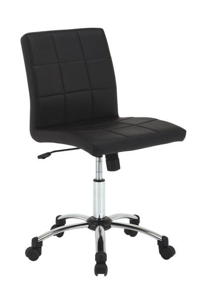 Billede af Hot skrivebordssstol, sort læderlook