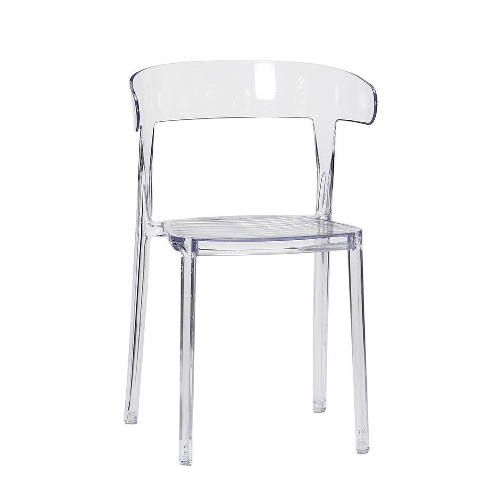 hübsch – H?bsch spisebordsstol - klar plastik fra boboonline.dk