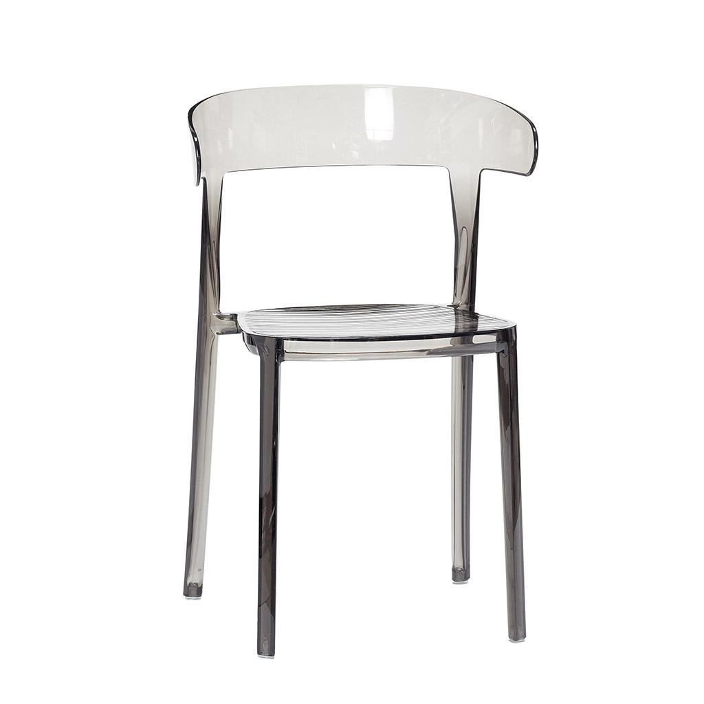 hübsch H?bsch stol, plastik, grå på boboonline.dk