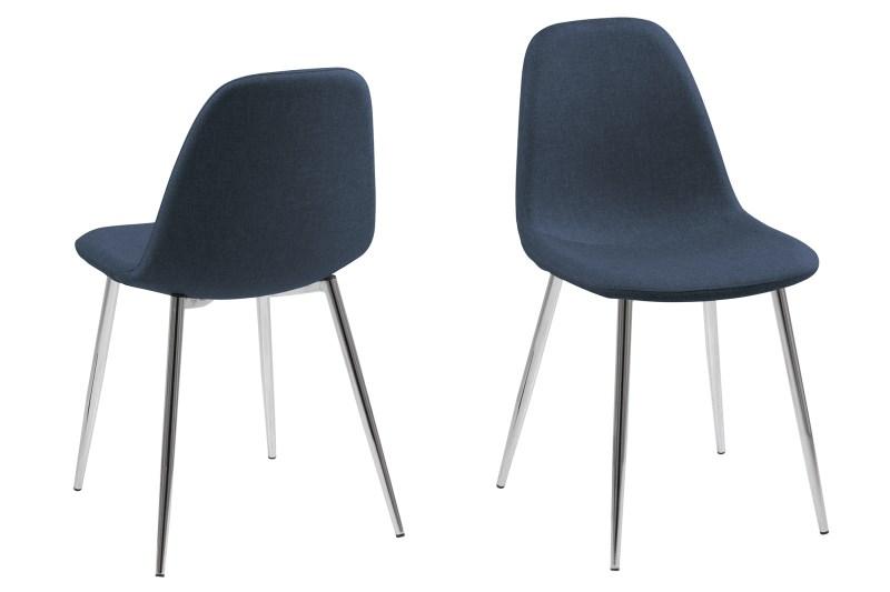Billede af Wilma spisebordsstol - mørkeblå