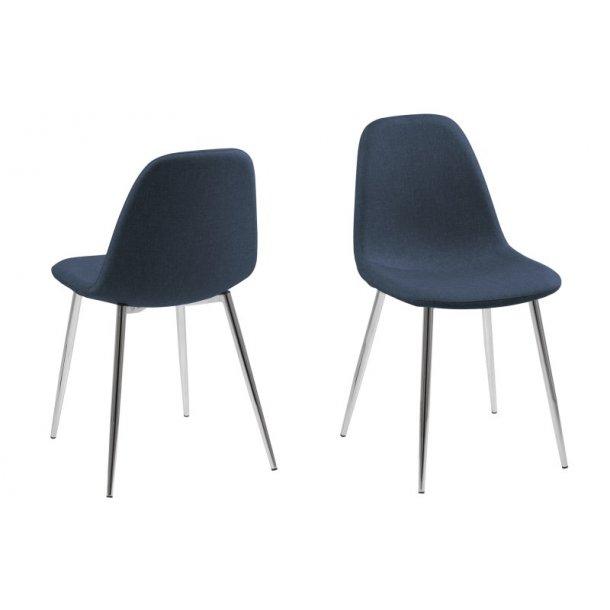 Wilma spisebordsstol - mørkeblå